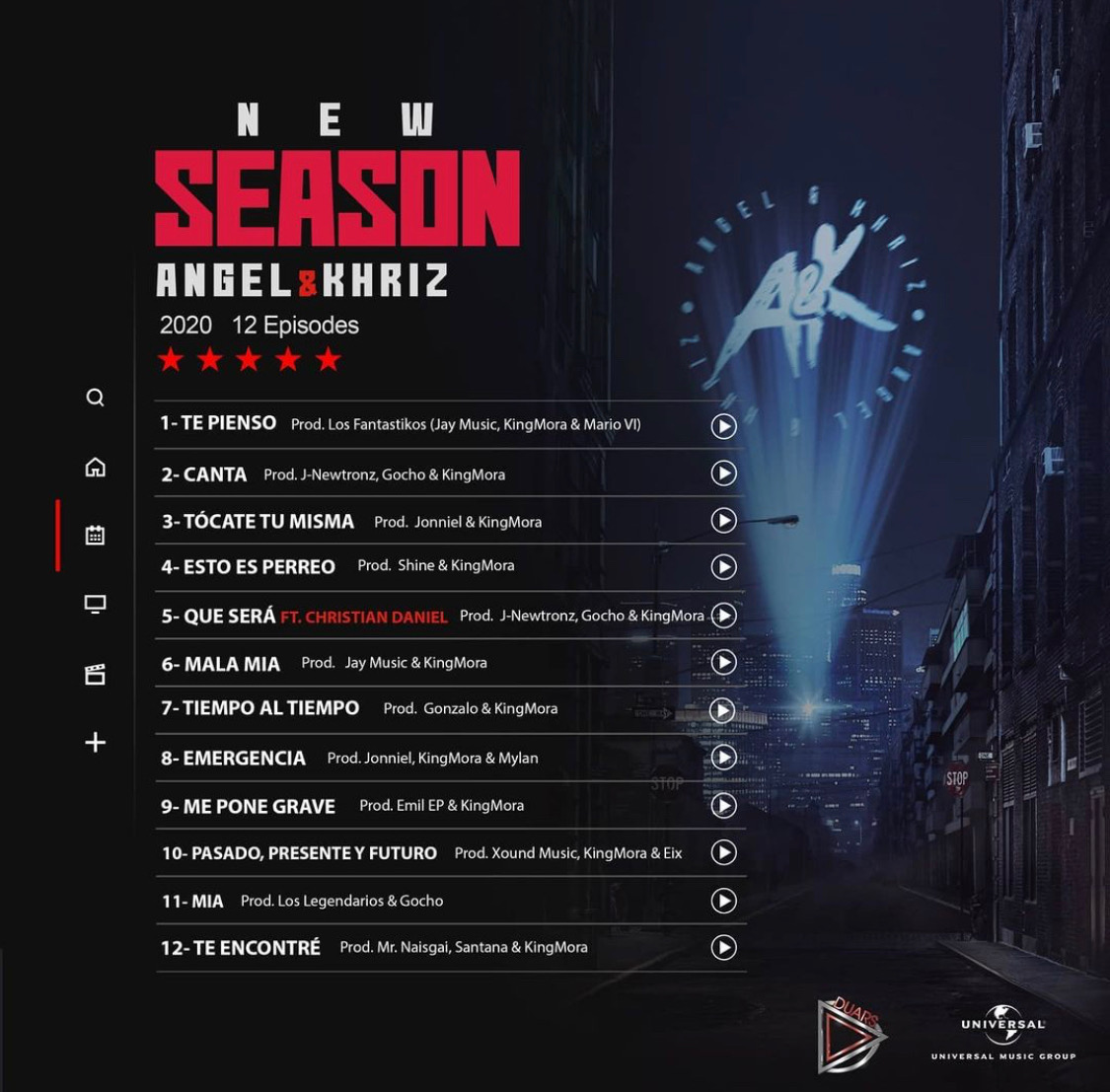 Nuevo Disco! 'New Season' de Khriz Y Angel